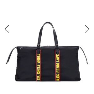 Fendi Vocabulary Nylon & Leather Travel Duffel Bag